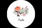 Jardin exotique Étiquettes rondes gaufrées - gabarit prédéfini. <br/>Utilisez notre logiciel Avery Design & Print Online pour personnaliser facilement la conception.