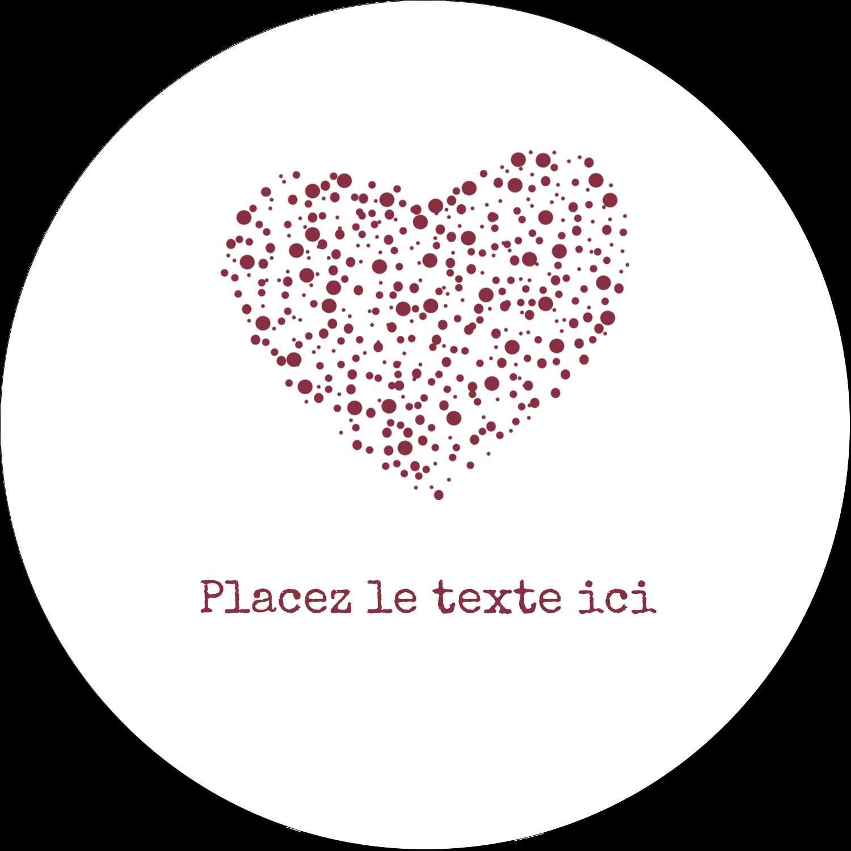 """4¾"""" x 3½"""" Étiquettes arrondies - Amas en cœur"""