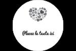 Courtepointe en cœur Étiquettes arrondies - gabarit prédéfini. <br/>Utilisez notre logiciel Avery Design & Print Online pour personnaliser facilement la conception.