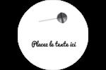 Sucette de Saint-Valentin Étiquettes arrondies - gabarit prédéfini. <br/>Utilisez notre logiciel Avery Design & Print Online pour personnaliser facilement la conception.