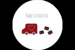 Saint-Valentin par la poste Étiquettes arrondies - gabarit prédéfini. <br/>Utilisez notre logiciel Avery Design & Print Online pour personnaliser facilement la conception.