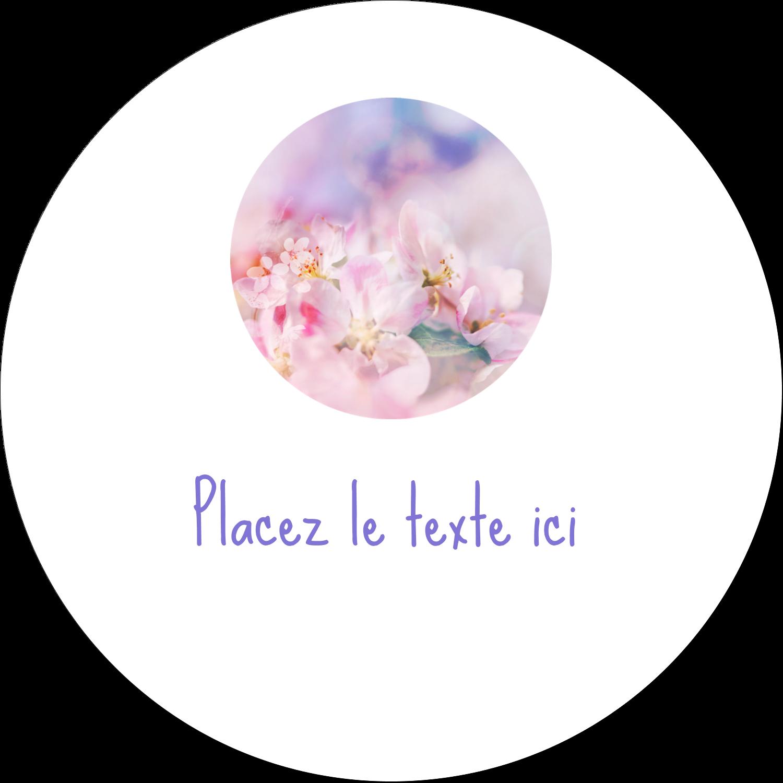 """4¾"""" x 3½"""" Étiquettes arrondies - Arrangement floral"""