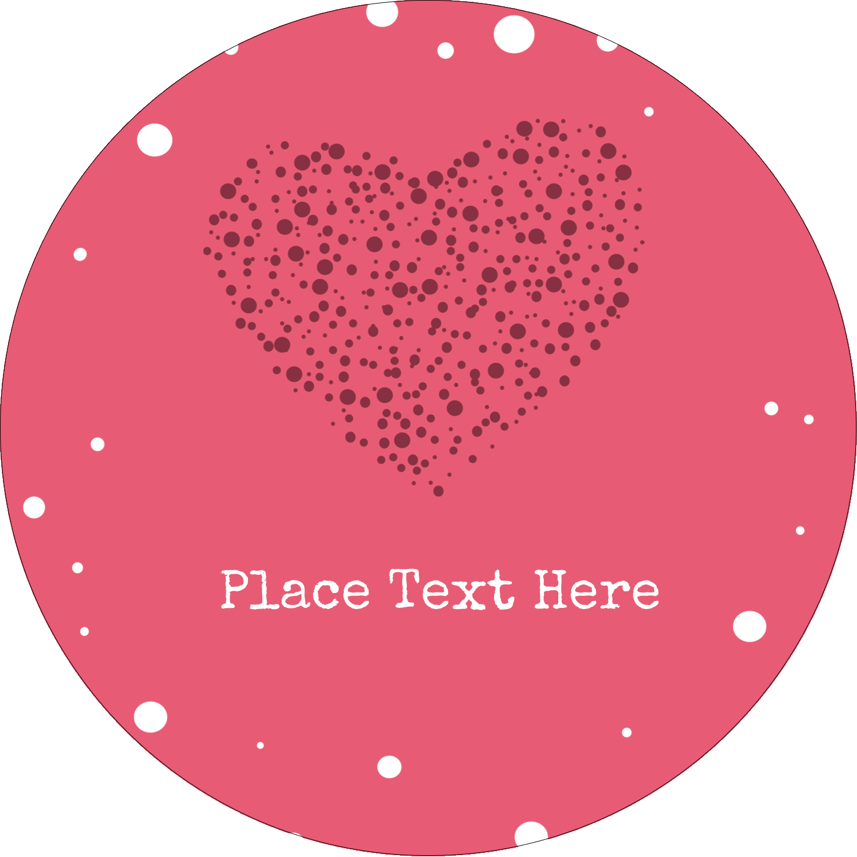"3"" Round Label - Heart Spot"