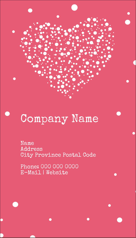 """3½"""" x 2"""" Business Card - Heart Spot"""