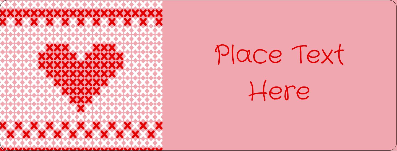 "½"" x 1¾"" Address Label - Valentine Cross Stitch"