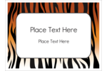 Add a wild sense of dimension to your project with pre-designed Tiger Print templates.