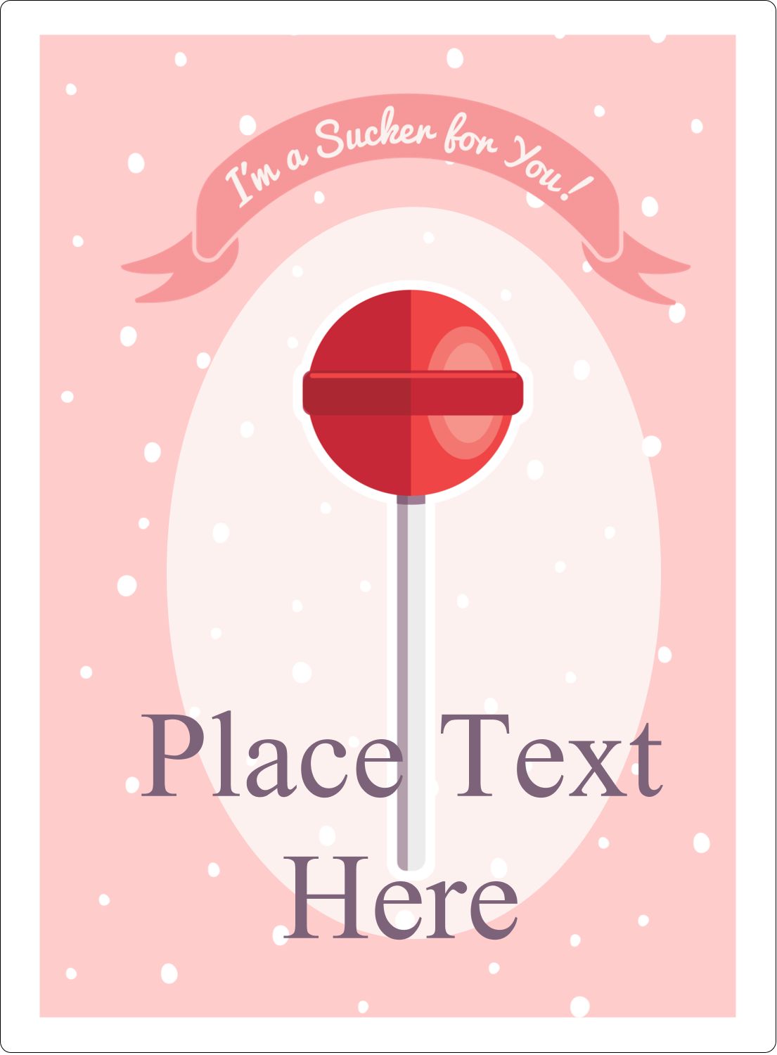 "4¾"" x 3½"" Rectangular Label - Valentine Lollipop"