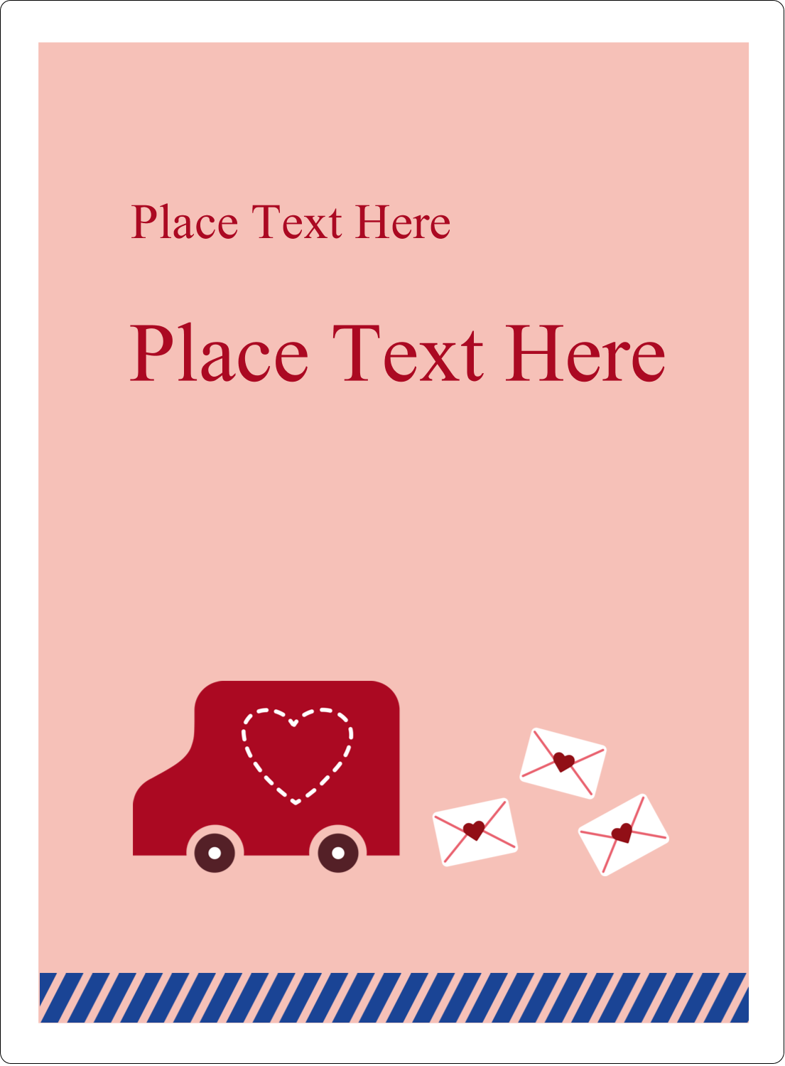 "4¾"" x 3½"" Rectangular Label - Valentine Mail"