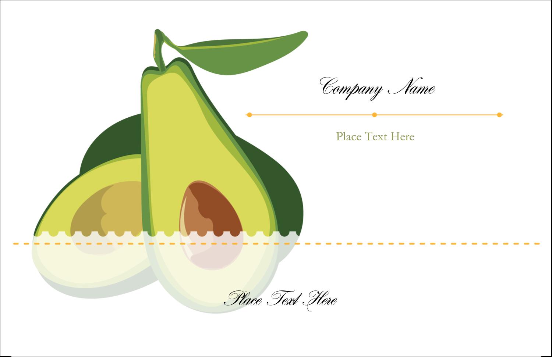 3441131e Ripe Avocado pre-designed Label and Card template for your next fun ...