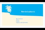 Palm Beach Carte d'affaire - gabarit prédéfini. <br/>Utilisez notre logiciel Avery Design & Print Online pour personnaliser facilement la conception.