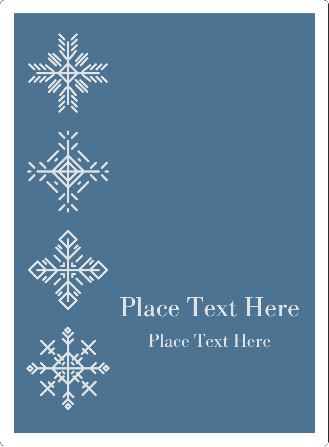 "4¾"" x 3½"" Rectangular Label - Snowflakes"