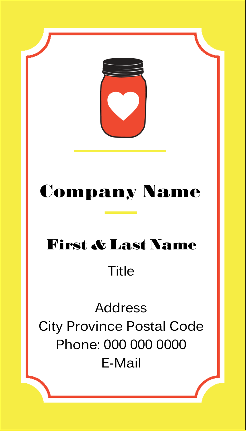 """3½"""" x 2"""" Business Card - Canned"""