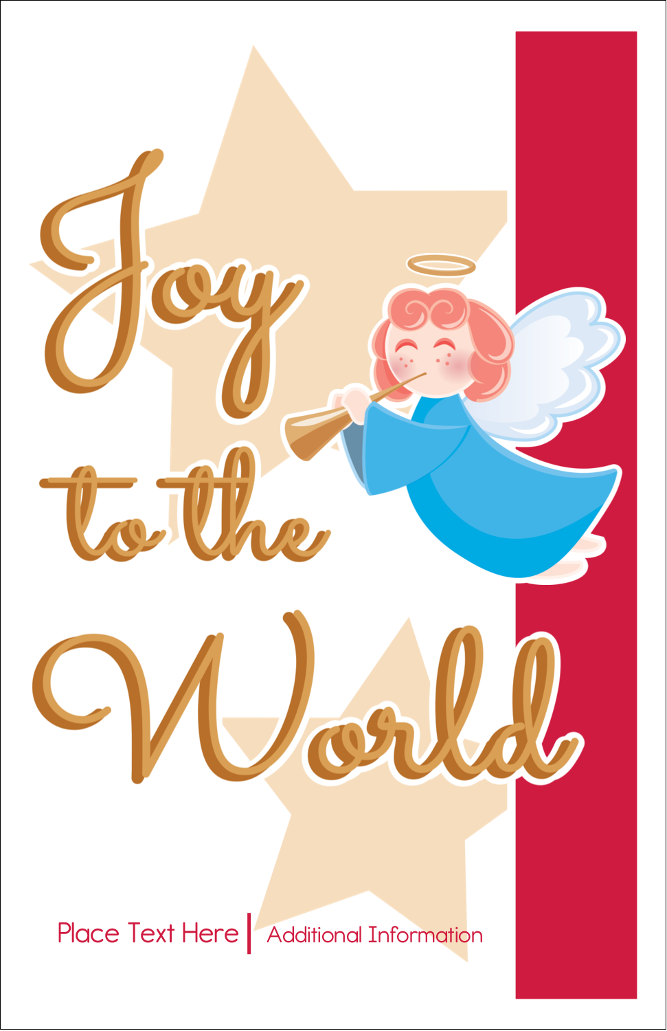 "5"" x 8½"" Half Fold Card - Religious Angel"