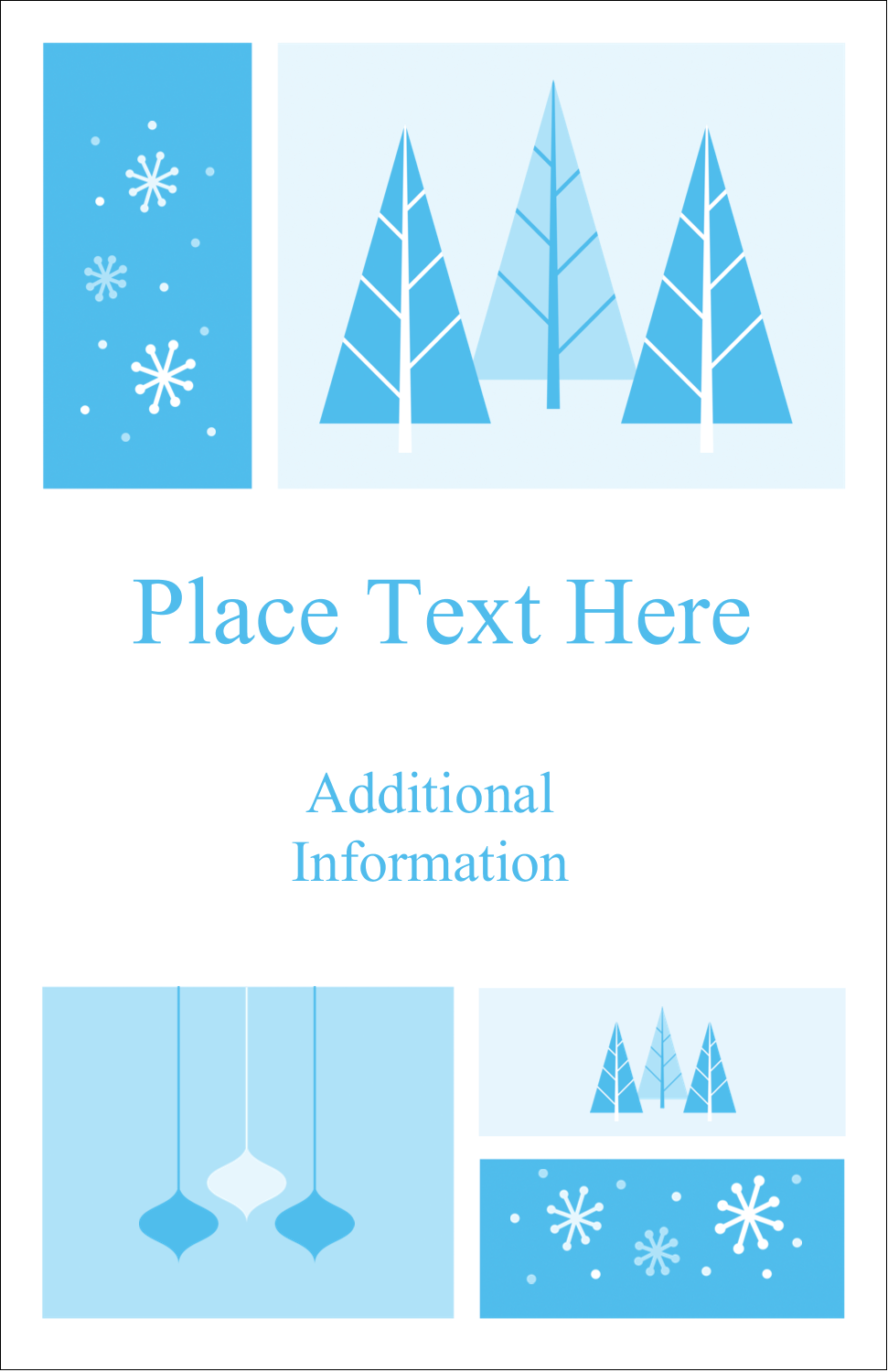 "5"" x 8½"" Half Fold Card - Retro Winter Wonderland"