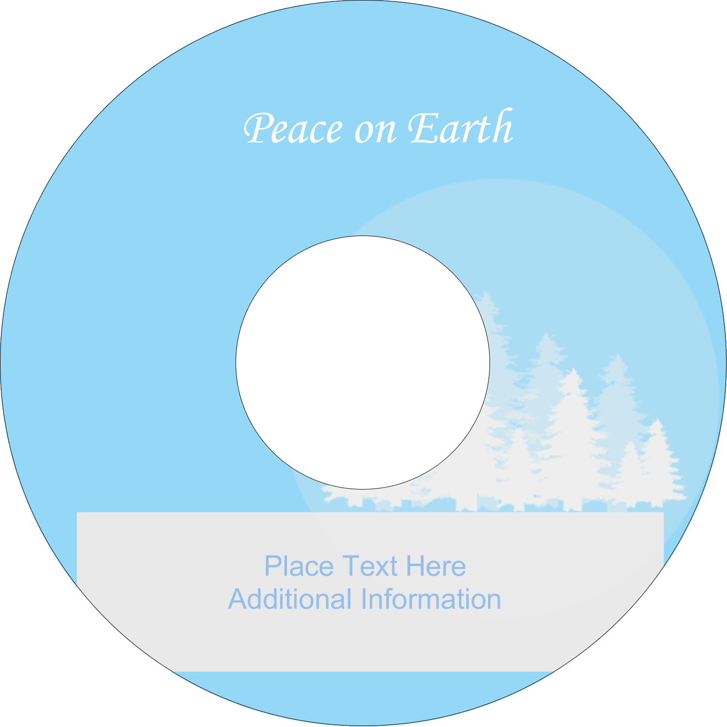 "4.65"" CD-DVD Label - Blue Forest"