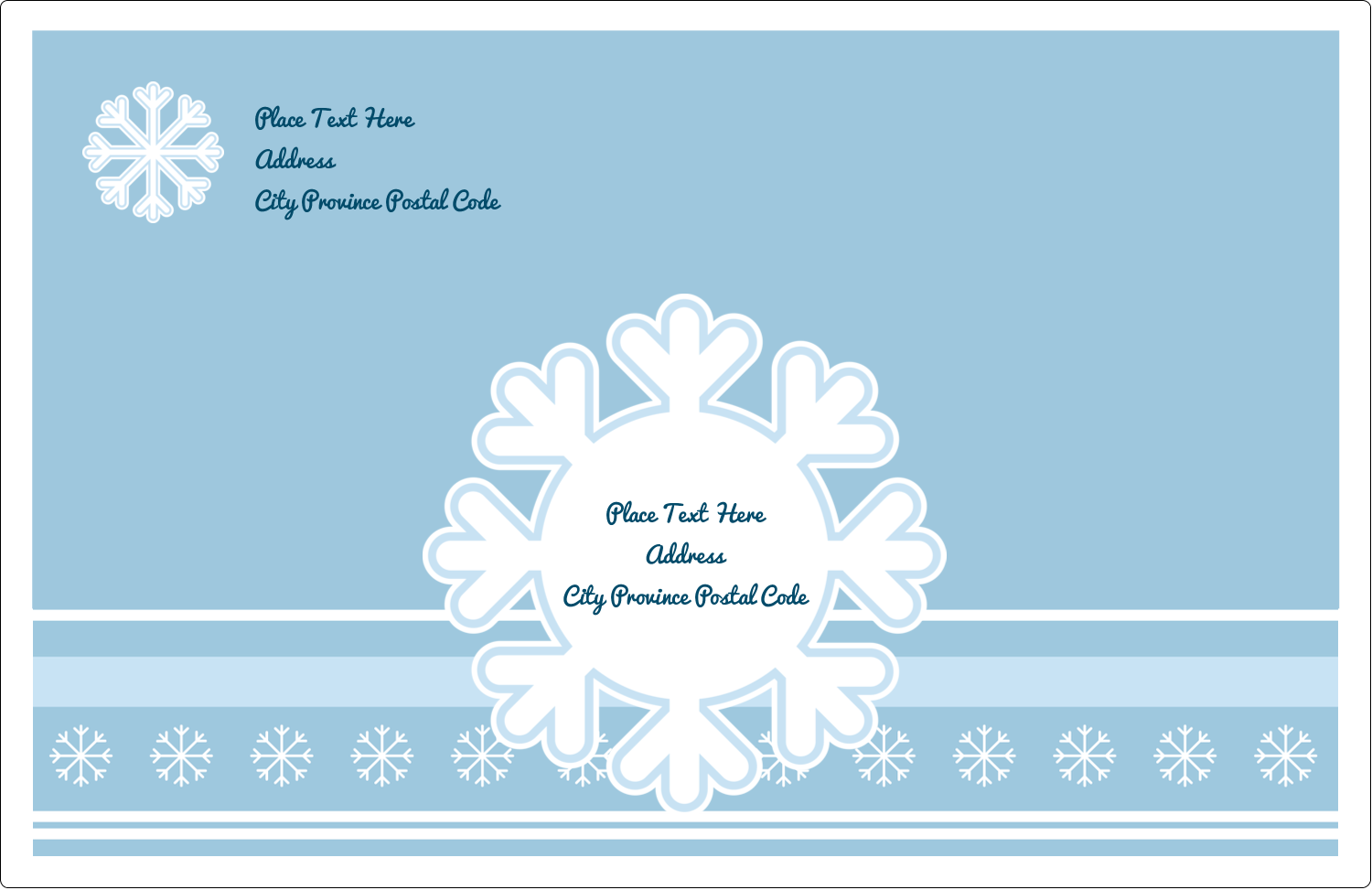 "5½"" x 8½"" Shipping Label - Blue Snowflake"