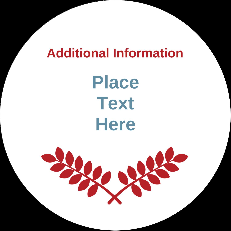 "3"" Round Label - Grey Red Foliage"