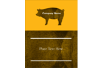 Personalize BBQ invitations with a silhouette of a pig. A simple two-tone design that is great for labels, party favours, buffet cards and more.