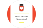Conserves Étiquettes rondes - gabarit prédéfini. <br/>Utilisez notre logiciel Avery Design & Print Online pour personnaliser facilement la conception.