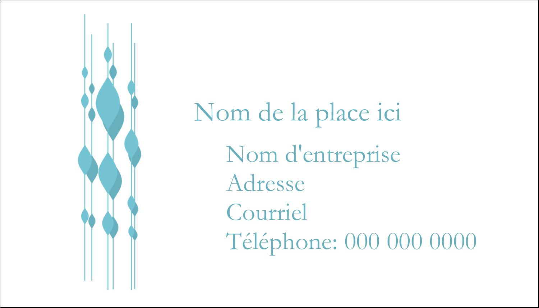 """3"""" x 5"""" Cartes Pour Le Bureau - Rideau de perles bleues"""