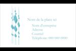 Rideau de perles bleues Cartes Pour Le Bureau - gabarit prédéfini. <br/>Utilisez notre logiciel Avery Design & Print Online pour personnaliser facilement la conception.