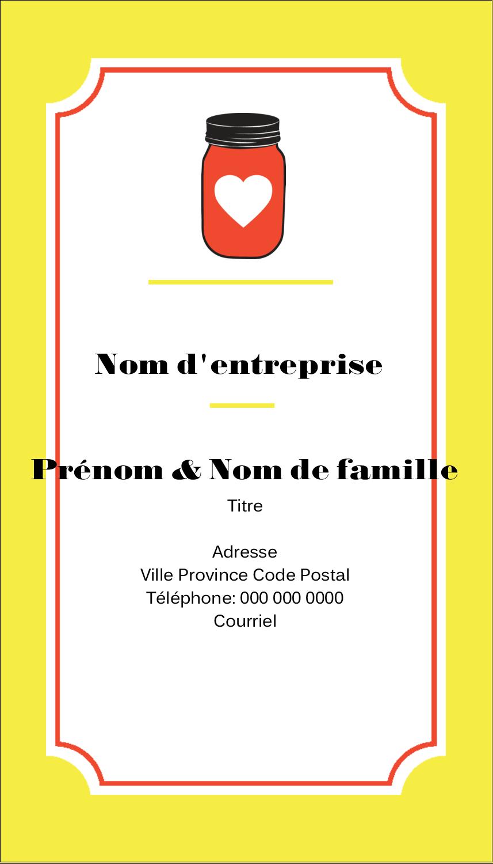"""3½"""" x 2"""" Carte d'affaire - Conserves"""