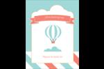 Ballon bleu Carte Postale - gabarit prédéfini. <br/>Utilisez notre logiciel Avery Design & Print Online pour personnaliser facilement la conception.