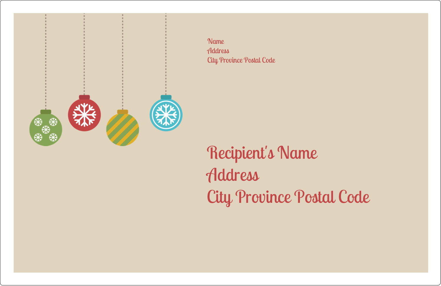 "5½"" x 8½"" Shipping Label - Crafty Ball Ornaments"
