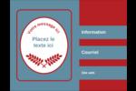Feuillage rouge et gris Carte Postale - gabarit prédéfini. <br/>Utilisez notre logiciel Avery Design & Print Online pour personnaliser facilement la conception.