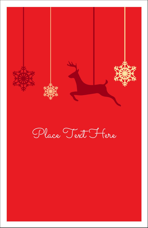 "5"" x 8½"" Half Fold Card - Deer Decor"