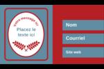 Feuillage rouge et gris Carte d'affaire - gabarit prédéfini. <br/>Utilisez notre logiciel Avery Design & Print Online pour personnaliser facilement la conception.