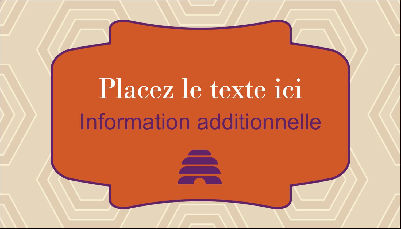 """3½"""" x 2"""" Carte d'affaire - Ruche violette"""