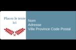 Feuillage rouge et gris Étiquettes D'Adresse - gabarit prédéfini. <br/>Utilisez notre logiciel Avery Design & Print Online pour personnaliser facilement la conception.