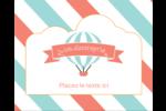 Ballon bleu Étiquettes rondes gaufrées - gabarit prédéfini. <br/>Utilisez notre logiciel Avery Design & Print Online pour personnaliser facilement la conception.