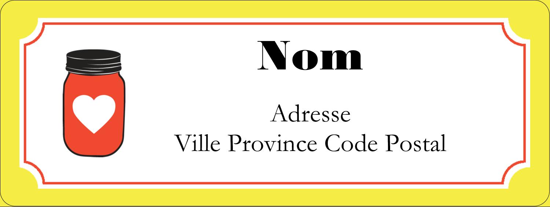"""⅔"""" x 1¾"""" Étiquettes D'Adresse - Conserves"""