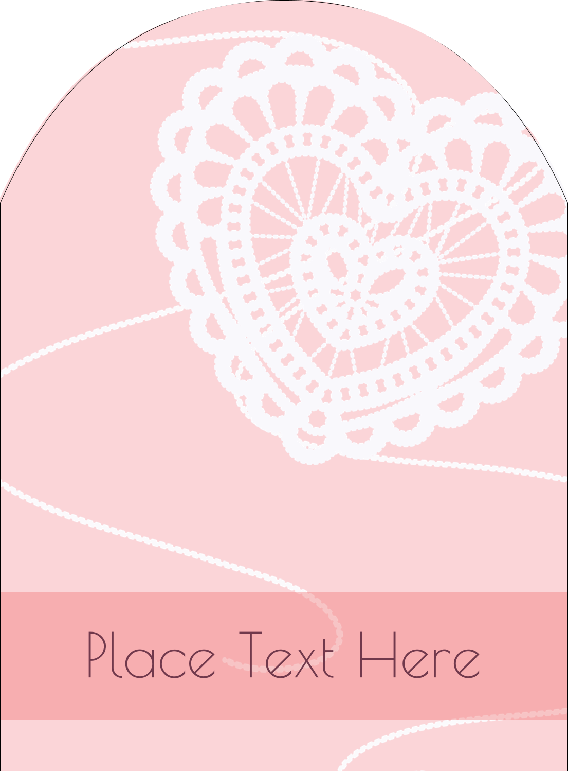 """4¾"""" x 3½"""" Arched Label - Valentine Crochet"""