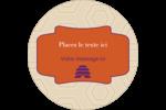 Ruche violette Étiquettes rondes - gabarit prédéfini. <br/>Utilisez notre logiciel Avery Design & Print Online pour personnaliser facilement la conception.
