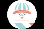 Ballon bleu Étiquettes rondes - gabarit prédéfini. <br/>Utilisez notre logiciel Avery Design & Print Online pour personnaliser facilement la conception.