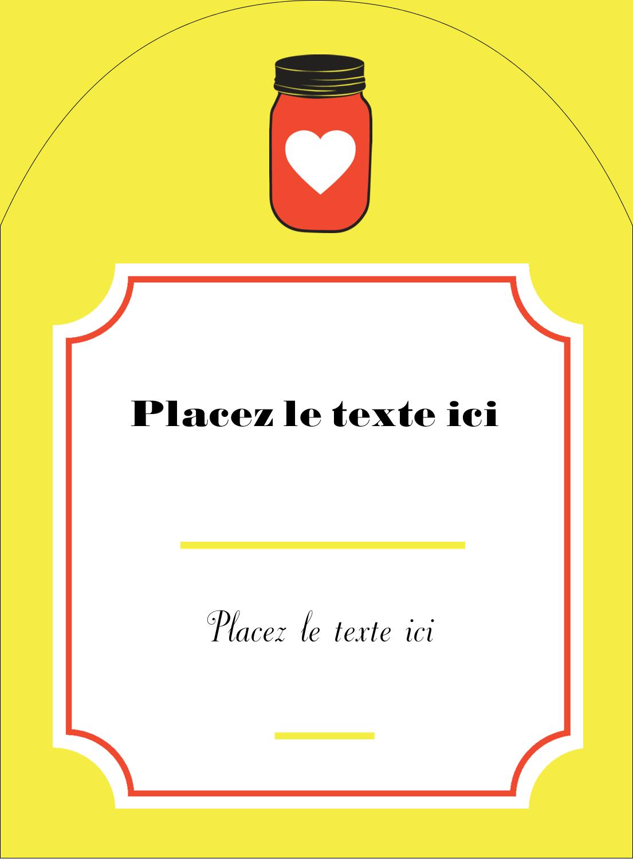 """4¾"""" x 3½"""" Étiquettes rectangulaires - Conserves"""
