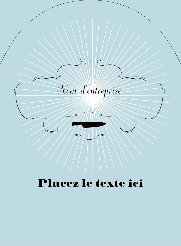 """4¾"""" x 3½"""" Étiquettes rectangulaires - Charcuterie"""