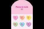 Bonbon en cœur de Saint-Valentin Étiquettes rectangulaires - gabarit prédéfini. <br/>Utilisez notre logiciel Avery Design & Print Online pour personnaliser facilement la conception.