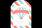 Ballon bleu Étiquettes rectangulaires - gabarit prédéfini. <br/>Utilisez notre logiciel Avery Design & Print Online pour personnaliser facilement la conception.