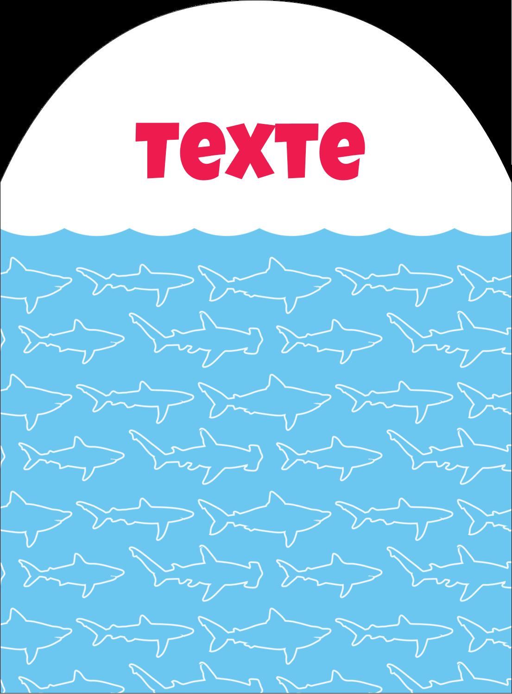"""4¾"""" x 3½"""" Étiquettes rectangulaires - Requins bleus"""