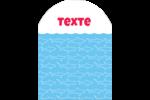Requins bleus Étiquettes rectangulaires - gabarit prédéfini. <br/>Utilisez notre logiciel Avery Design & Print Online pour personnaliser facilement la conception.