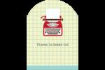 Machine à écrire Étiquettes rectangulaires - gabarit prédéfini. <br/>Utilisez notre logiciel Avery Design & Print Online pour personnaliser facilement la conception.