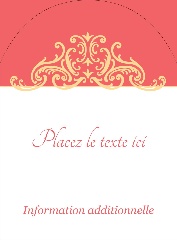 """4¾"""" x 3½"""" Étiquettes rectangulaires - Élégance et mariage"""