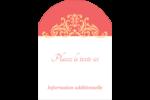 Élégance et mariage Étiquettes rectangulaires - gabarit prédéfini. <br/>Utilisez notre logiciel Avery Design & Print Online pour personnaliser facilement la conception.