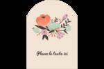 Jardin exotique Étiquettes arrondies - gabarit prédéfini. <br/>Utilisez notre logiciel Avery Design & Print Online pour personnaliser facilement la conception.