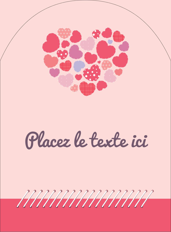 """4¾"""" x 3½"""" Étiquettes rectangulaires - Courtepointe en cœur"""