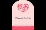 Courtepointe en cœur Étiquettes rectangulaires - gabarit prédéfini. <br/>Utilisez notre logiciel Avery Design & Print Online pour personnaliser facilement la conception.